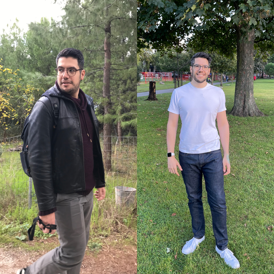 6 feet 3 Male Before and After 60 lbs Weight Loss 247 lbs to 187 lbs