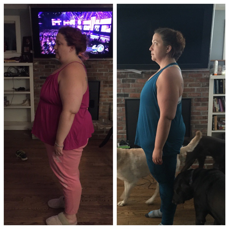 5 foot 4 Female 65 lbs Fat Loss Before and After 284 lbs to 219 lbs