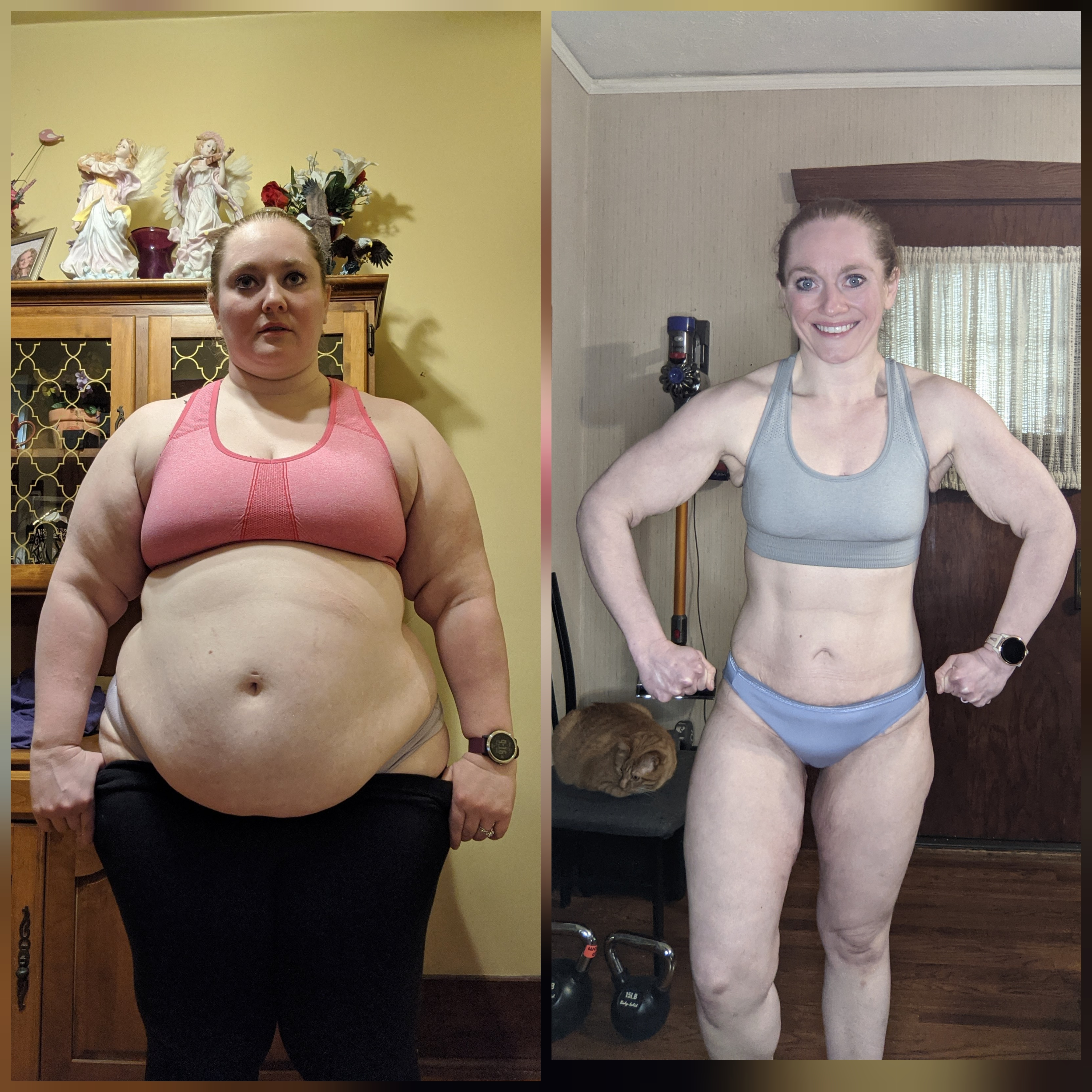 5 foot 4 Female Progress Pics of 140 lbs Weight Loss 284 lbs to 144 lbs