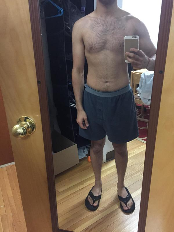 6 Pictures of a 5'4 126 lbs Male Weight Snapshot