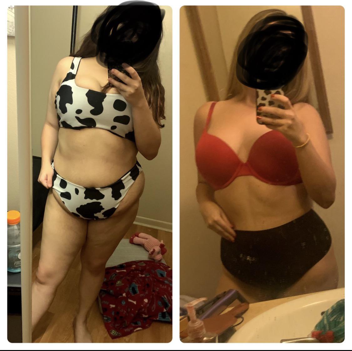 5 foot Female Progress Pics of 59 lbs Weight Loss 197 lbs to 138 lbs