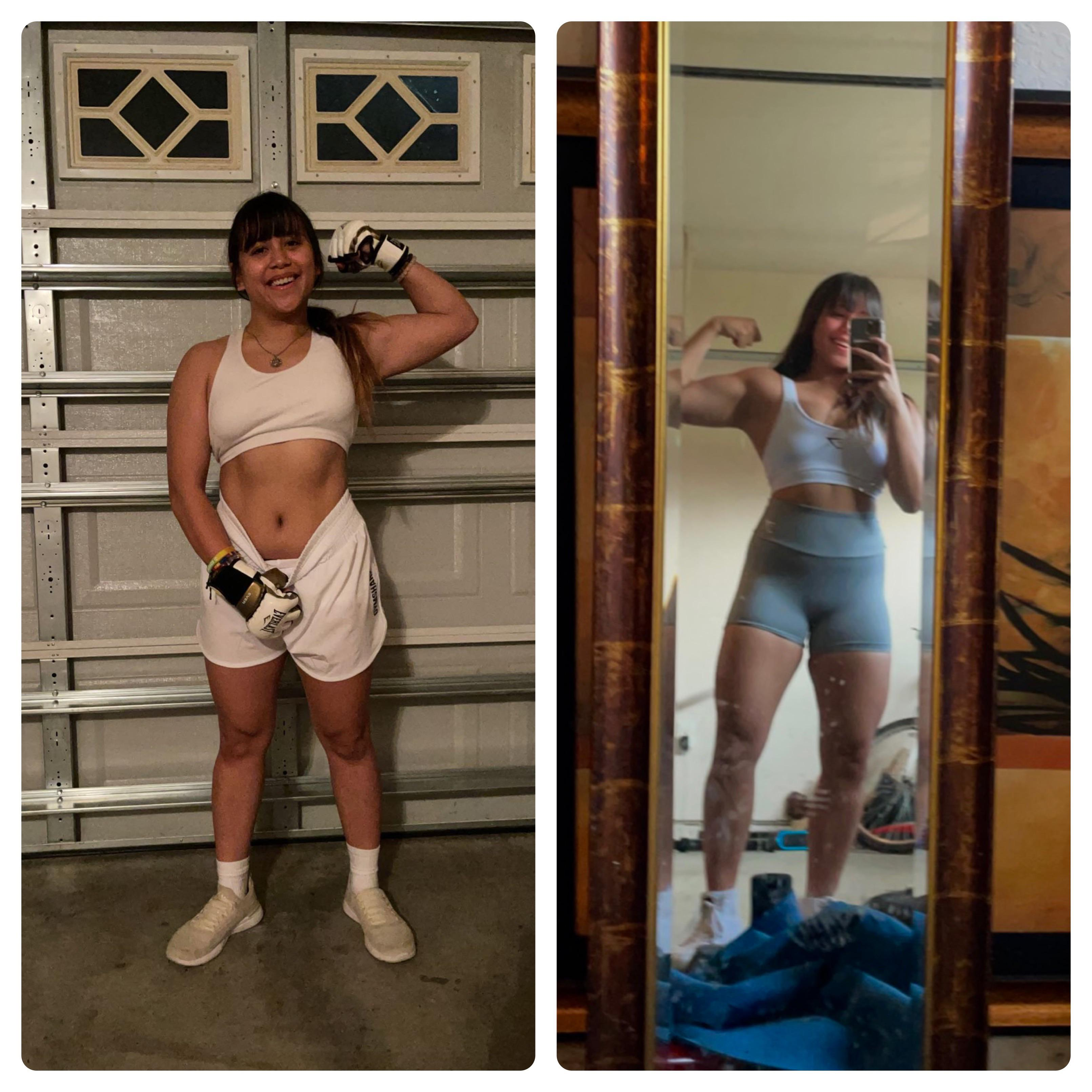 12 lbs Fat Loss Before and After 4 feet 11 Female 132 lbs to 120 lbs