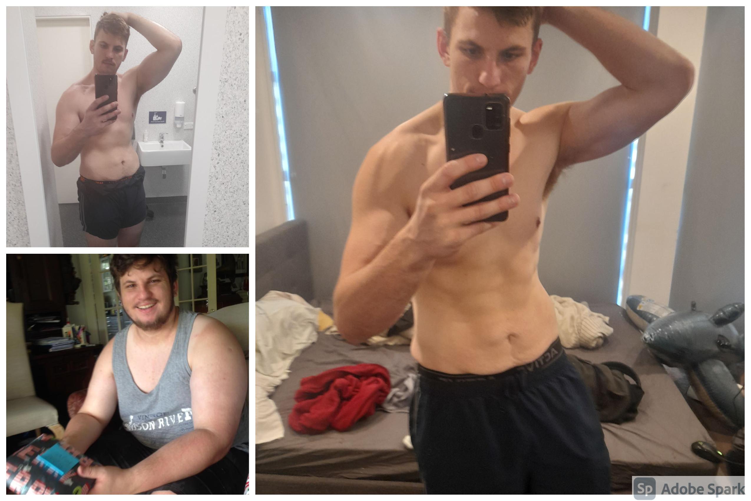 174 lbs Weight Loss 6'3 Male 394 lbs to 220 lbs