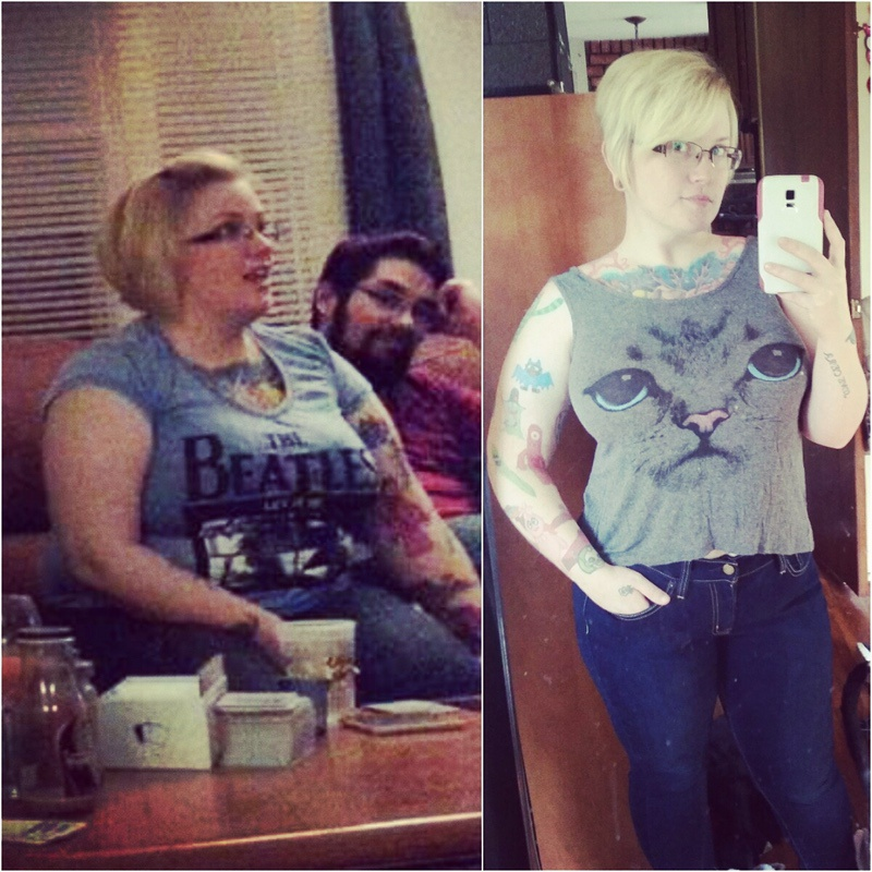 4'11 Female 52 lbs Weight Loss Before and After 216 lbs to 164 lbs