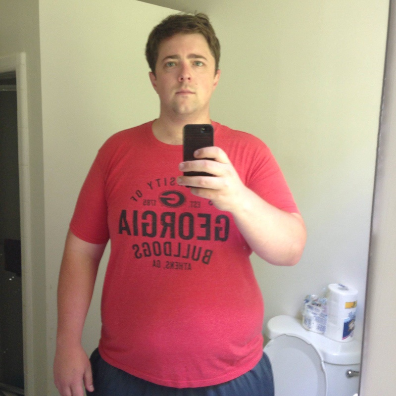 6 foot 5 Male Before and After 40 lbs Fat Loss 360 lbs to 320 lbs