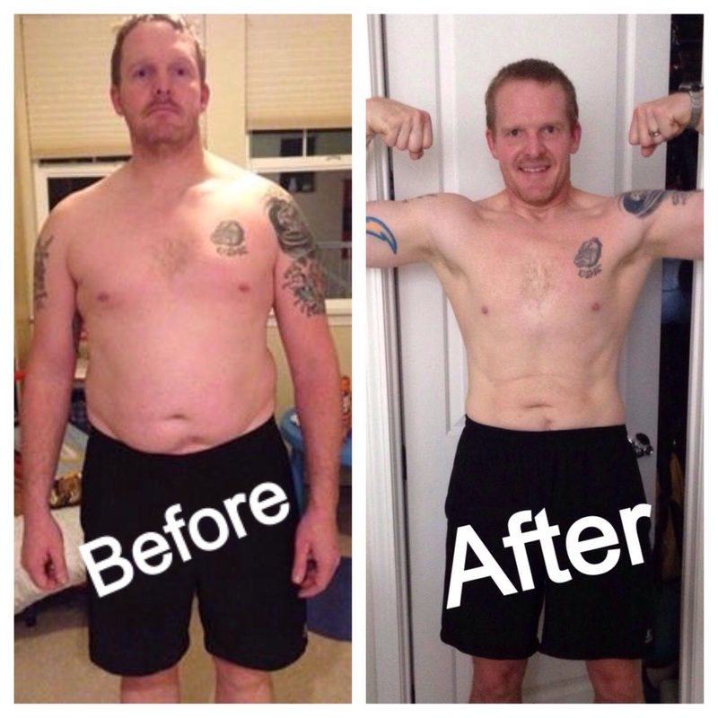 Before and After 57 lbs Weight Loss 6 feet 3 Male 252 lbs to 195 lbs