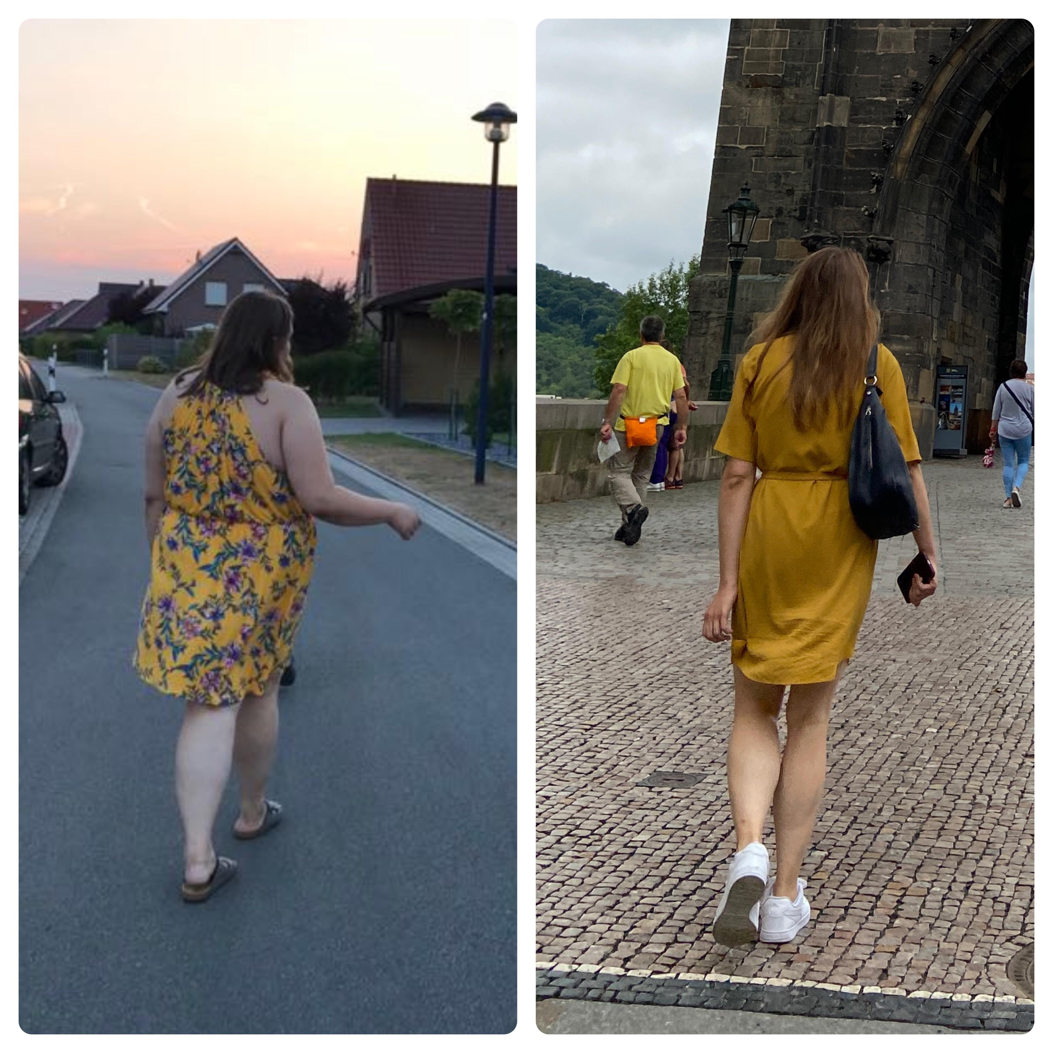 5 foot 10 Female 121 lbs Fat Loss Before and After 286 lbs to 165 lbs