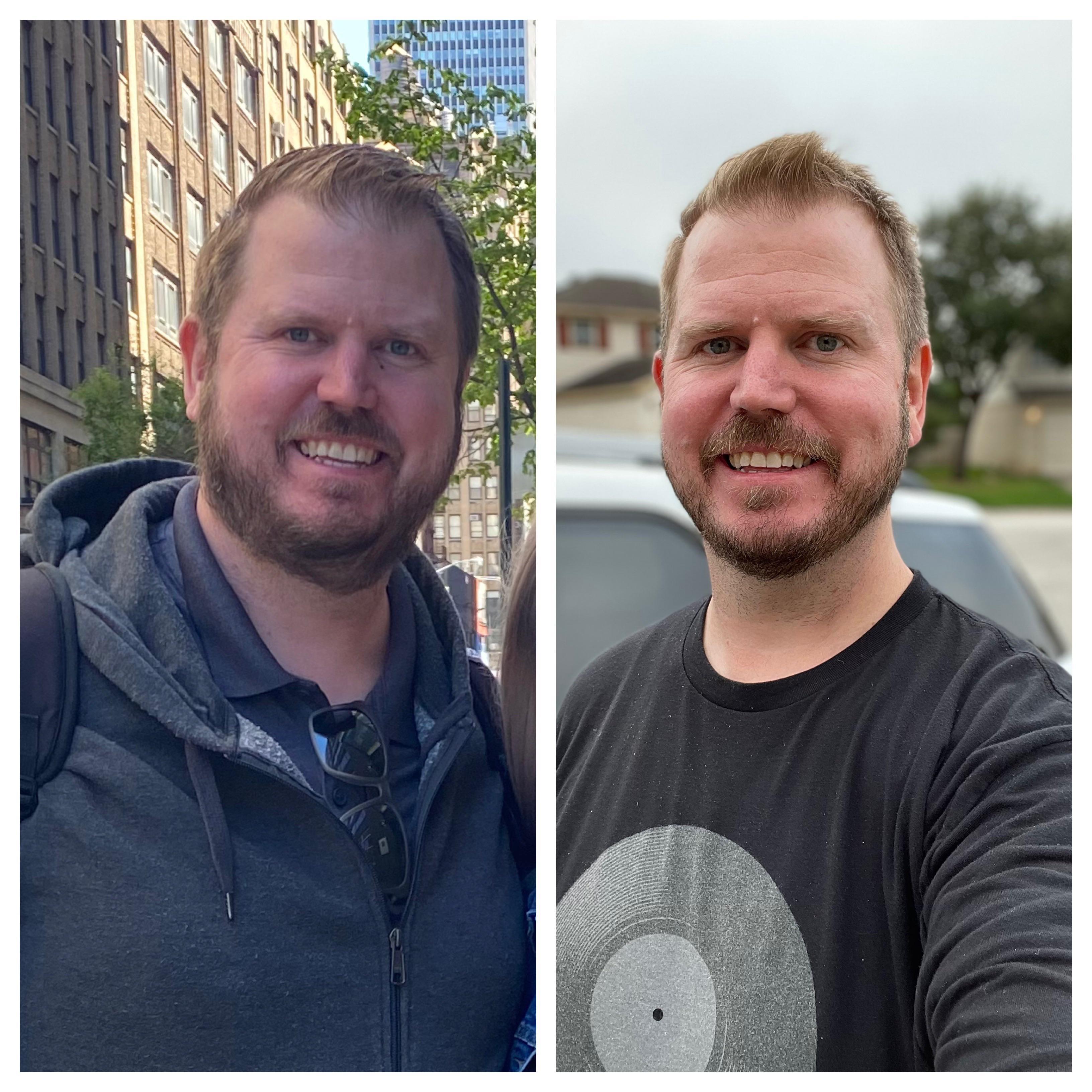 Progress Pics of 75 lbs Weight Loss 6 foot 5 Male 358 lbs to 283 lbs