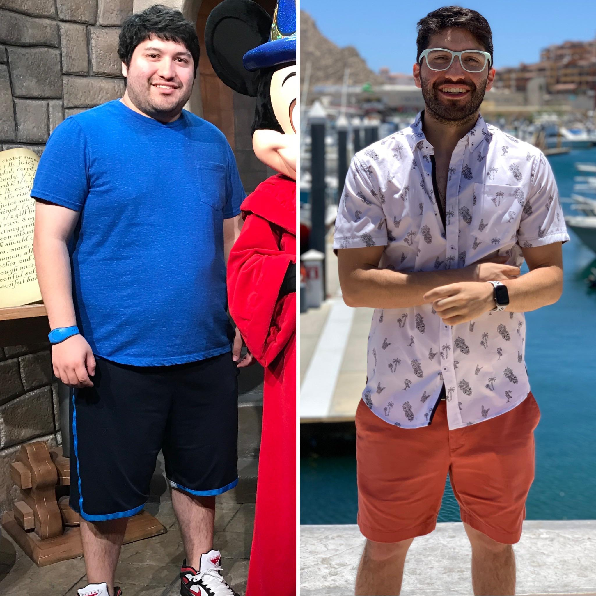 5'5 Male 120 lbs Weight Loss Before and After 265 lbs to 145 lbs