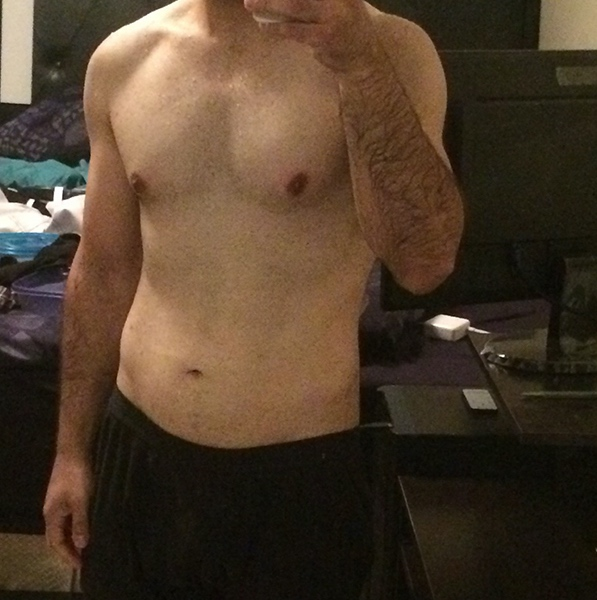 5 feet 6 Male Before and After 40 lbs Fat Loss 180 lbs to 140 lbs