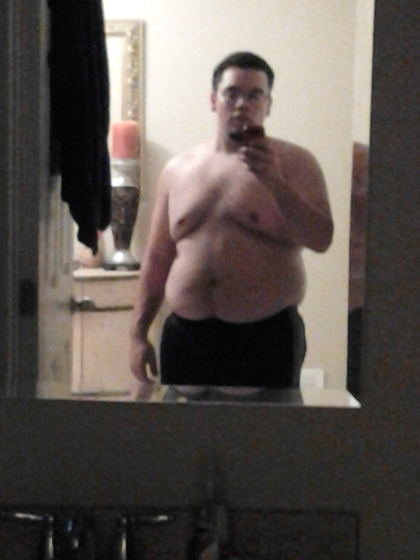 Before and After 68 lbs Fat Loss 5 feet 6 Male 274 lbs to 206 lbs