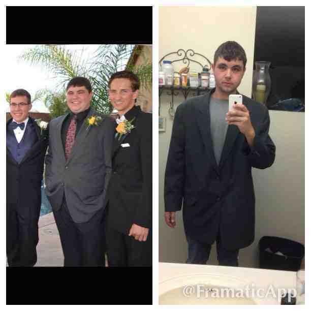 6 feet 3 Male 120 lbs Weight Loss Before and After 310 lbs to 190 lbs