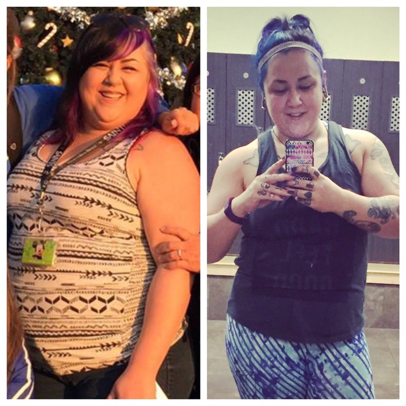 Before and After 44 lbs Weight Loss 5 foot 3 Female 241 lbs to 197 lbs