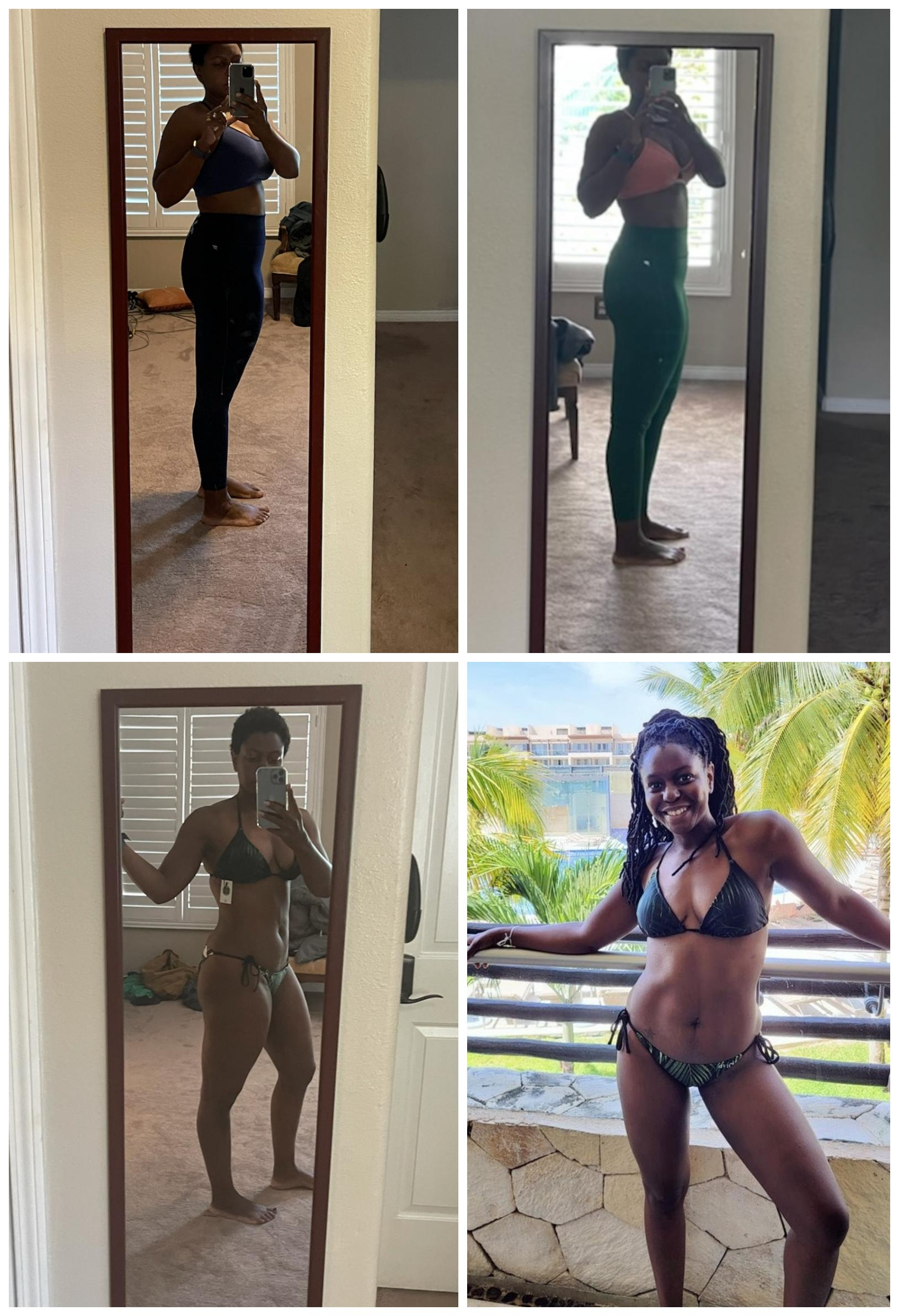 5'7 Female Progress Pics of 30 lbs Weight Loss 186 lbs to 156 lbs