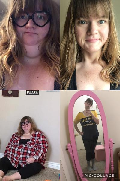 5'6 Female 236 lbs Weight Loss Before and After 425 lbs to 189 lbs