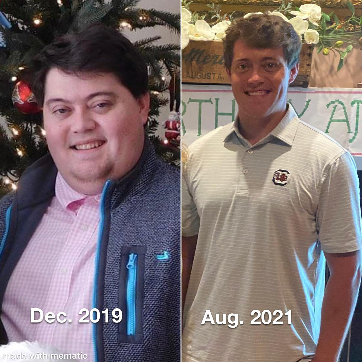 95 lbs Weight Loss Before and After 5 foot 8 Male 250 lbs to 155 lbs