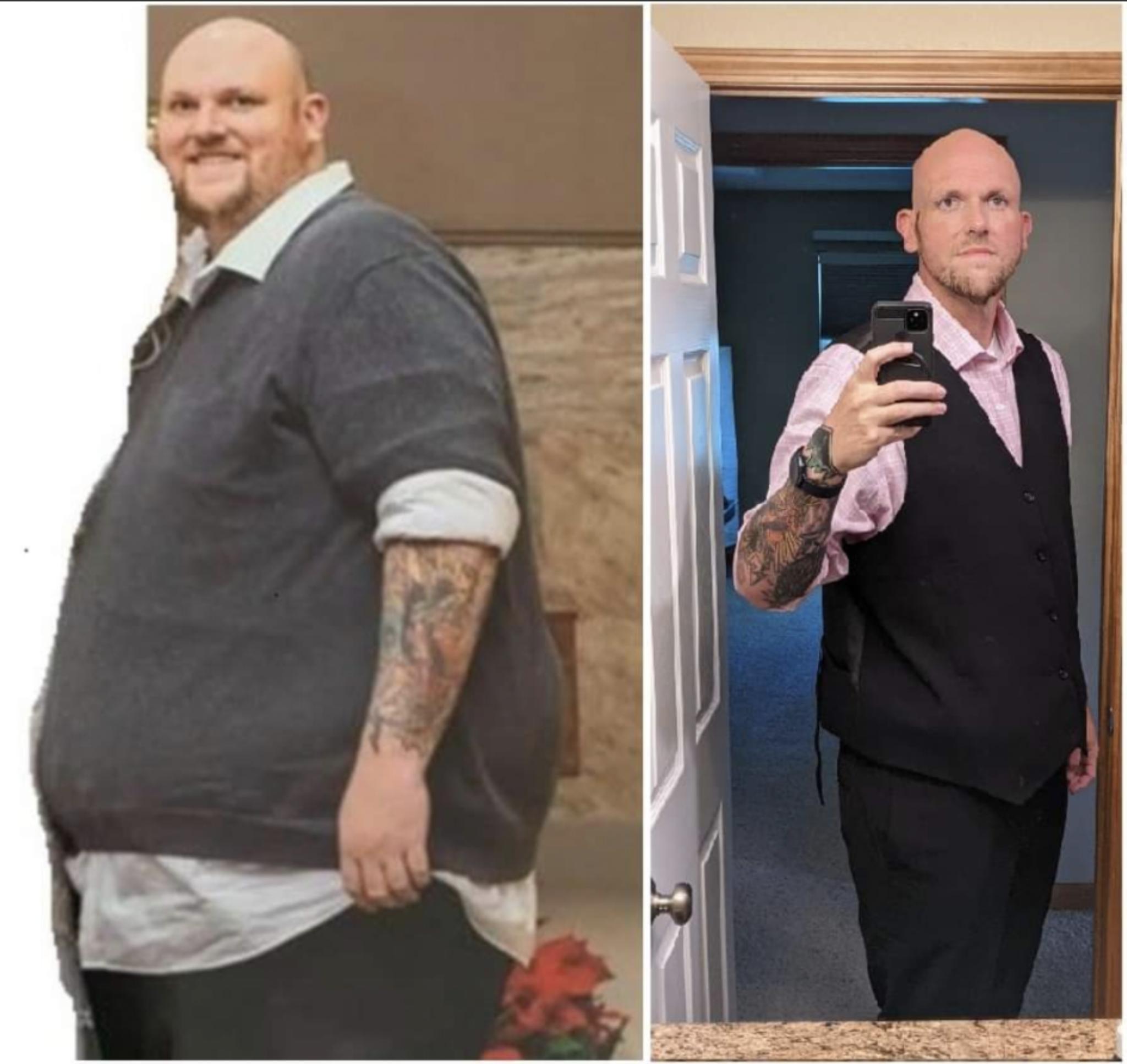 6'8 Male 230 lbs Fat Loss 509 lbs to 279 lbs