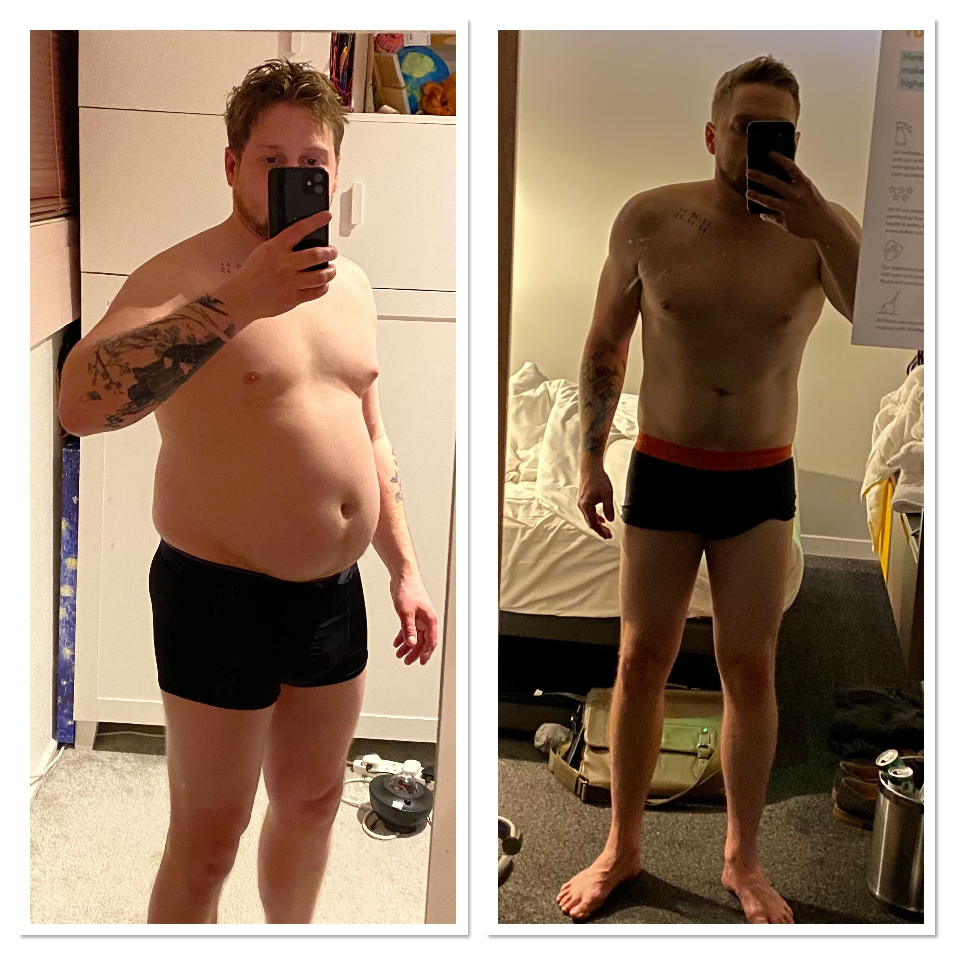 5'9 Male 29 lbs Weight Loss 198 lbs to 169 lbs