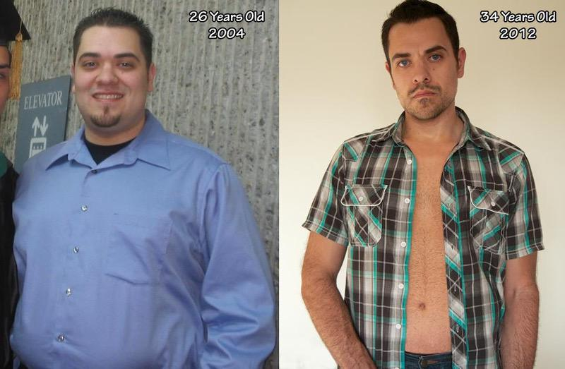 85 lbs Weight Loss Before and After 5 foot 11 Male 260 lbs to 175 lbs