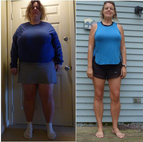 143 lbs Weight Loss Before and After 5'10 Female 333 lbs to 190 lbs