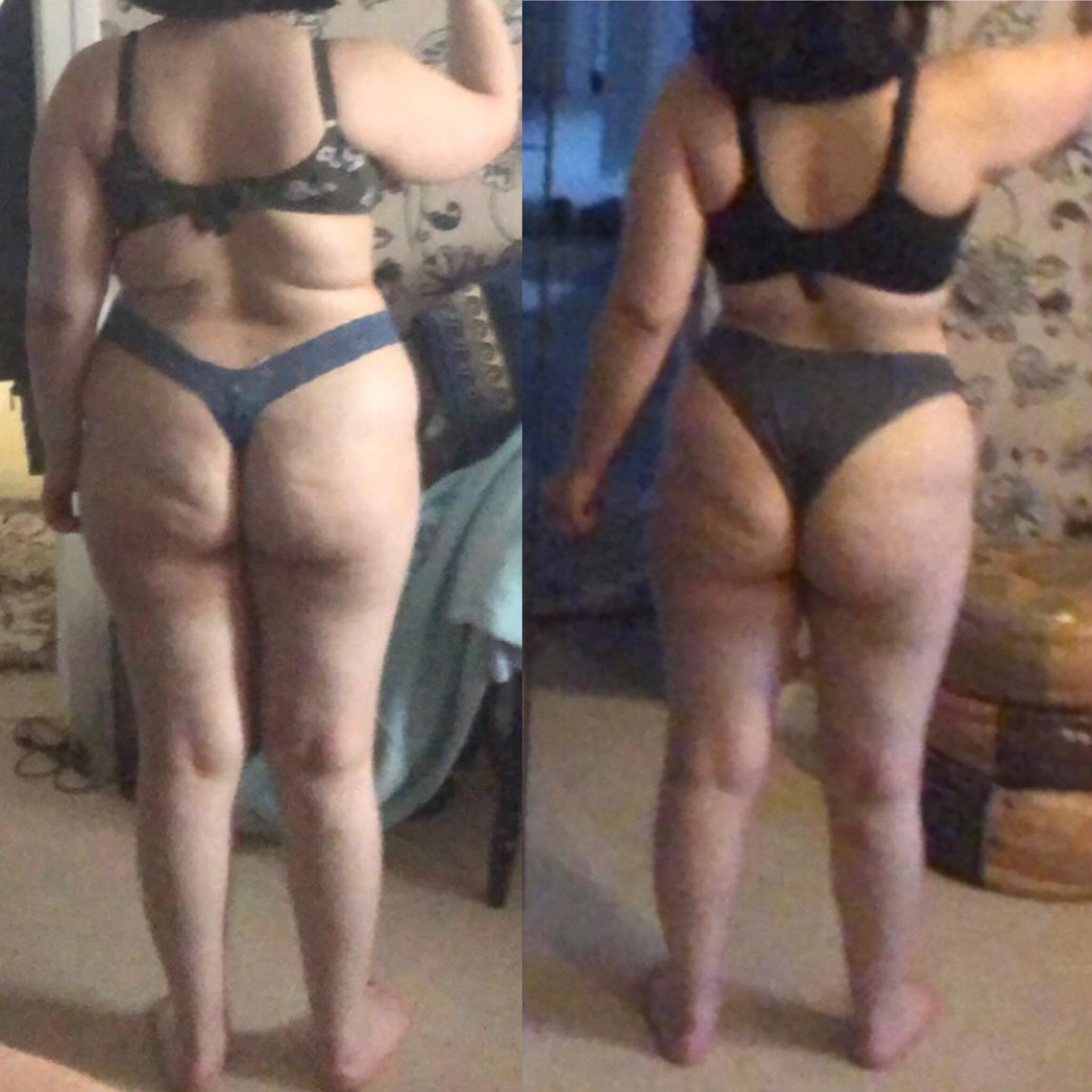 5'5 Female 23 lbs Weight Loss Before and After 195 lbs to 172 lbs