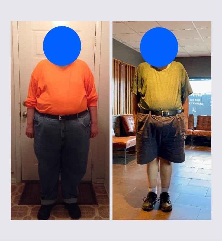 90 lbs Fat Loss 5 feet 11 Male 357 lbs to 267 lbs