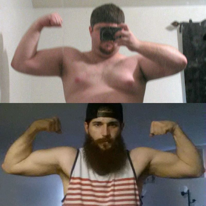 5 foot 10 Male Before and After 90 lbs Weight Loss 265 lbs to 175 lbs