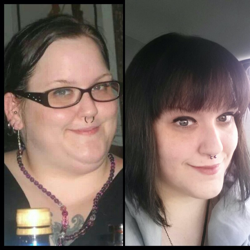 5'6 Female Before and After 119 lbs Weight Loss 396 lbs to 277 lbs