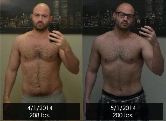 Progress Pics of 8 lbs Weight Loss 5'11 Male 208 lbs to 200 lbs