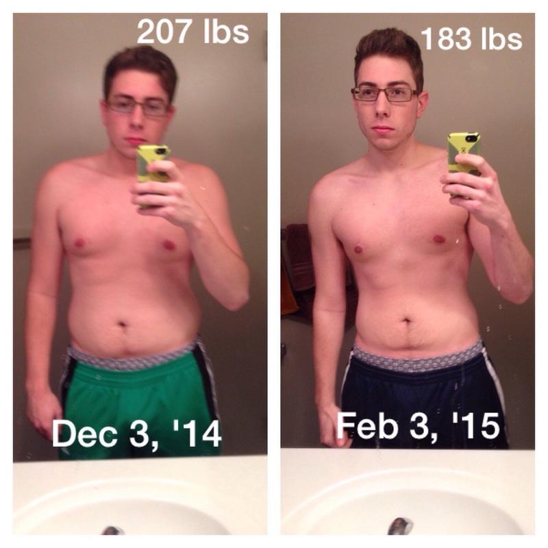 6 foot Male Progress Pics of 24 lbs Fat Loss 207 lbs to 183 lbs