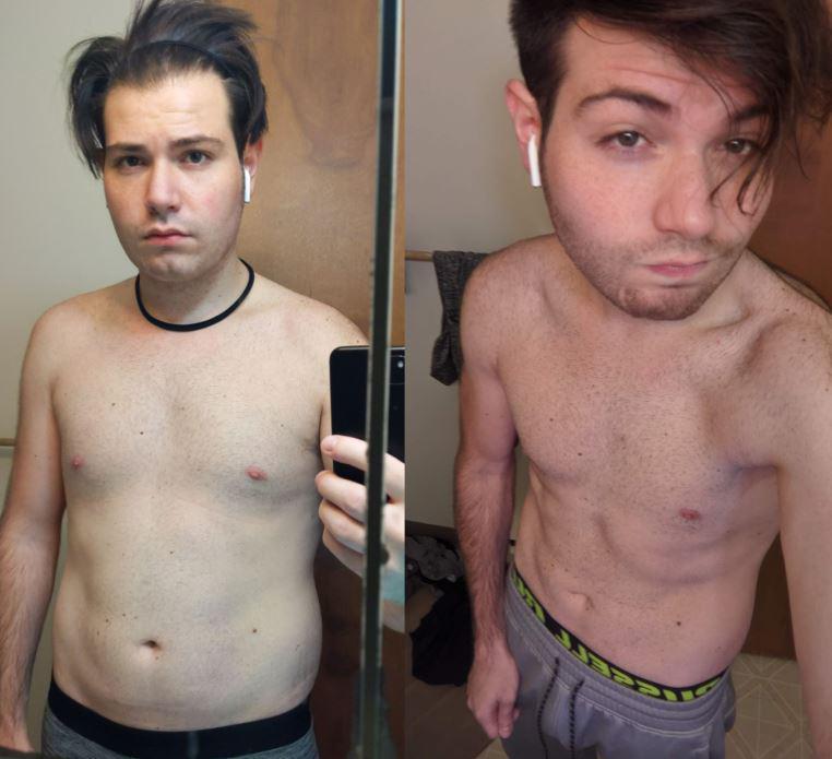 5 feet 8 Male Progress Pics of 18 lbs Fat Loss 178 lbs to 160 lbs