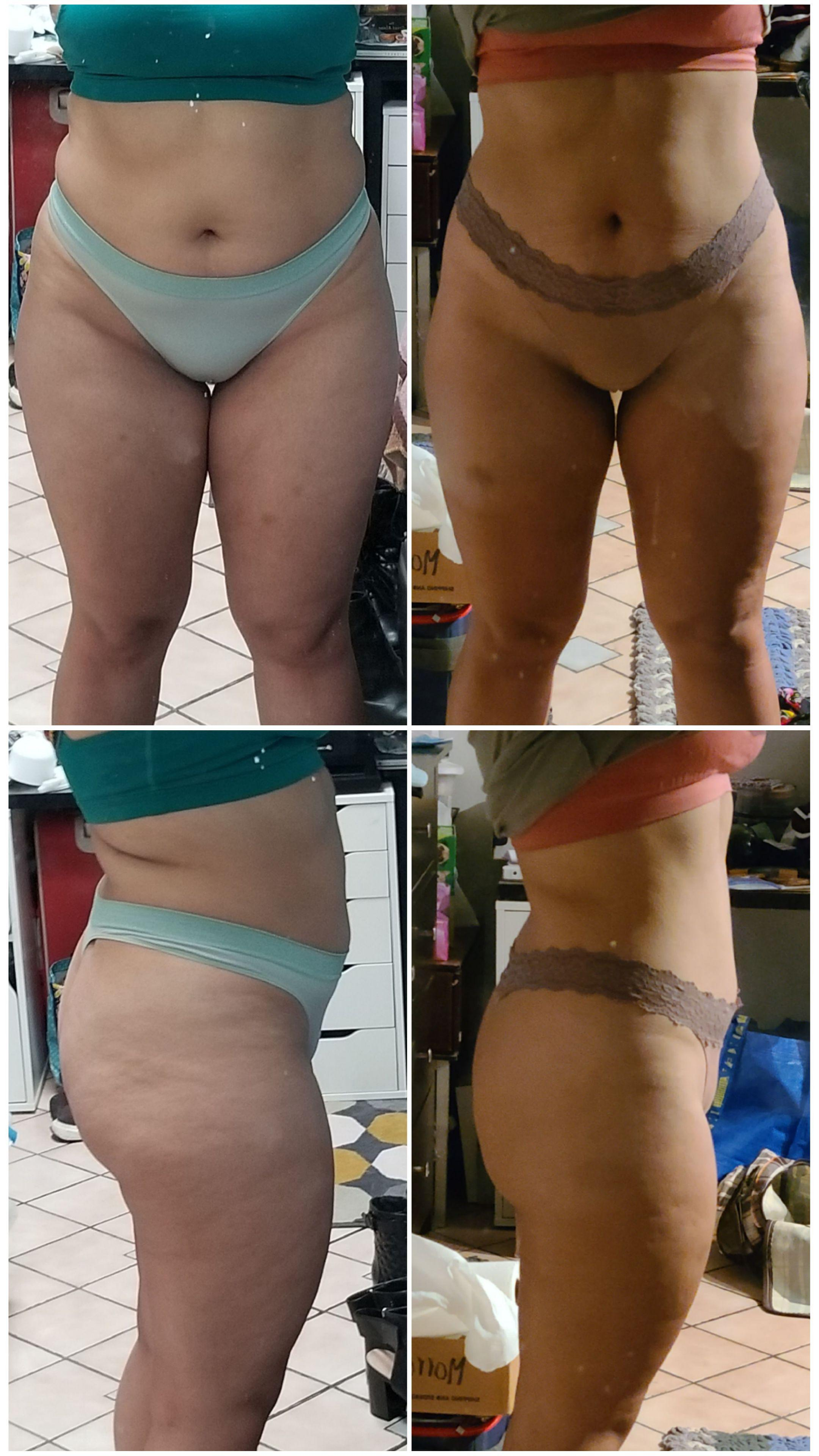 5 feet 5 Female Before and After 10 lbs Weight Loss 190 lbs to 180 lbs