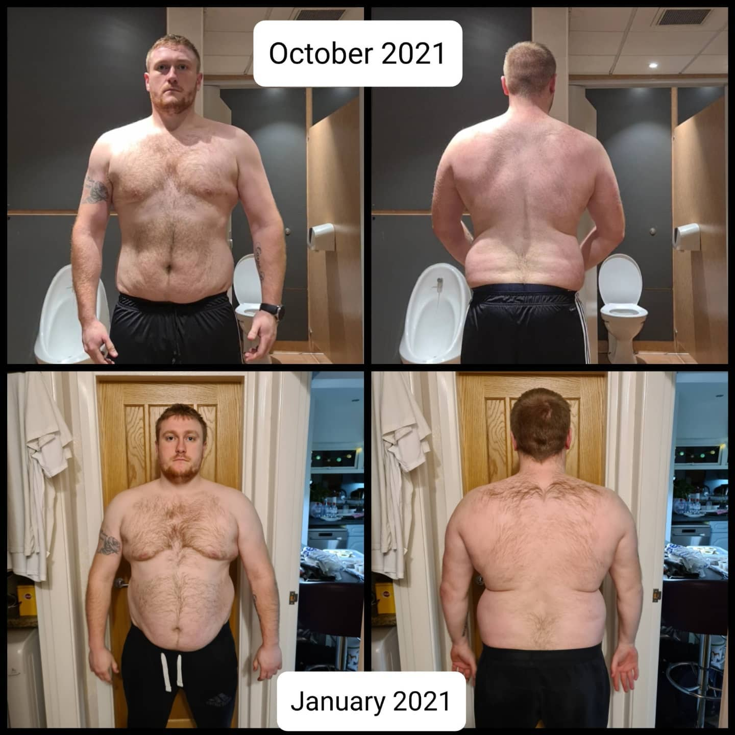 5'10 Male Before and After 58 lbs Weight Loss 269 lbs to 211 lbs