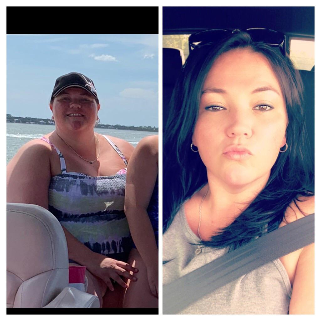 5 foot 6 Female Before and After 135 lbs Weight Loss 358 lbs to 223 lbs