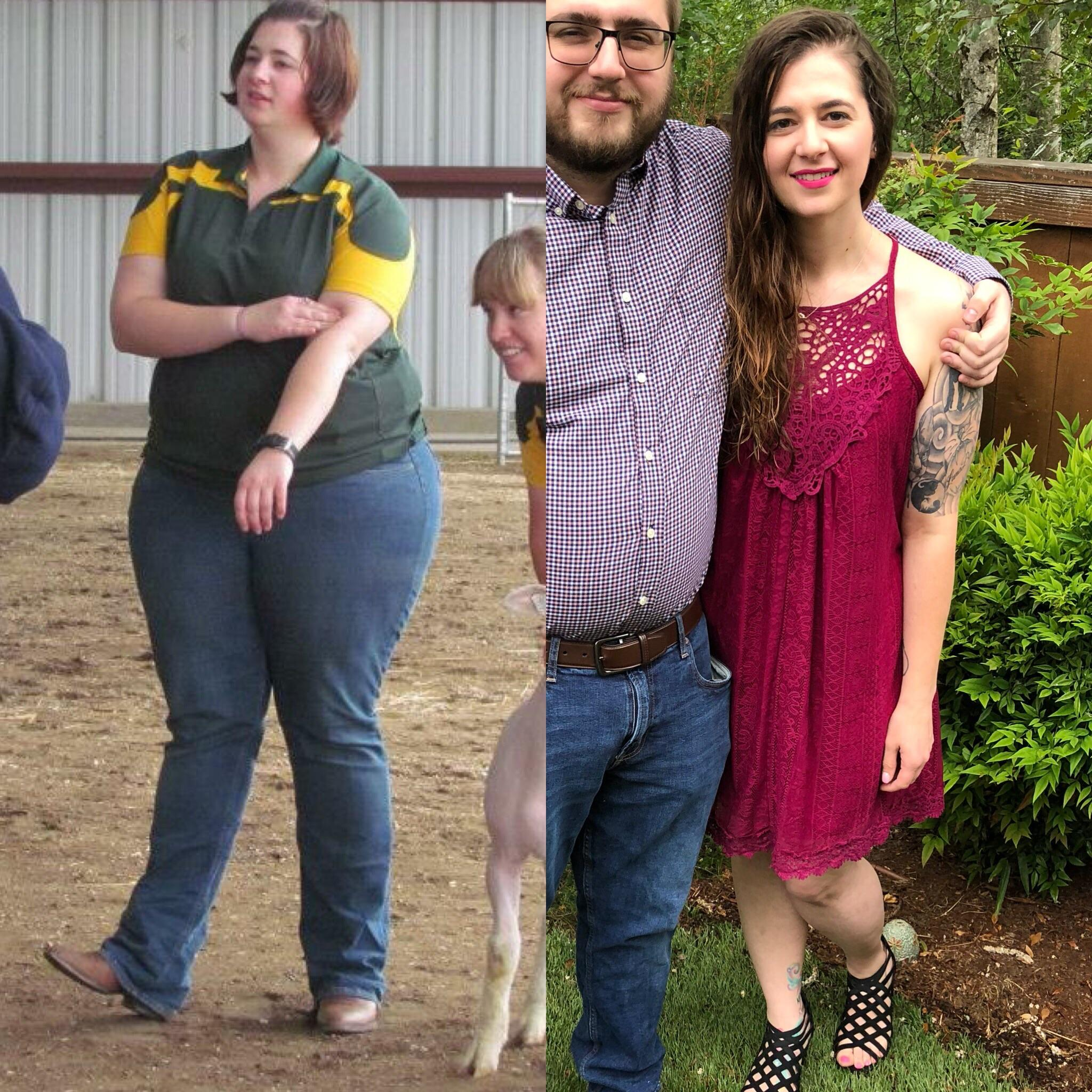 5'8 Female 141 lbs Fat Loss 330 lbs to 189 lbs
