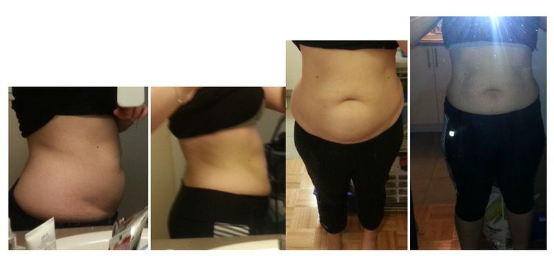 5 feet 1 Female 33 lbs Fat Loss Before and After 189 lbs to 156 lbs