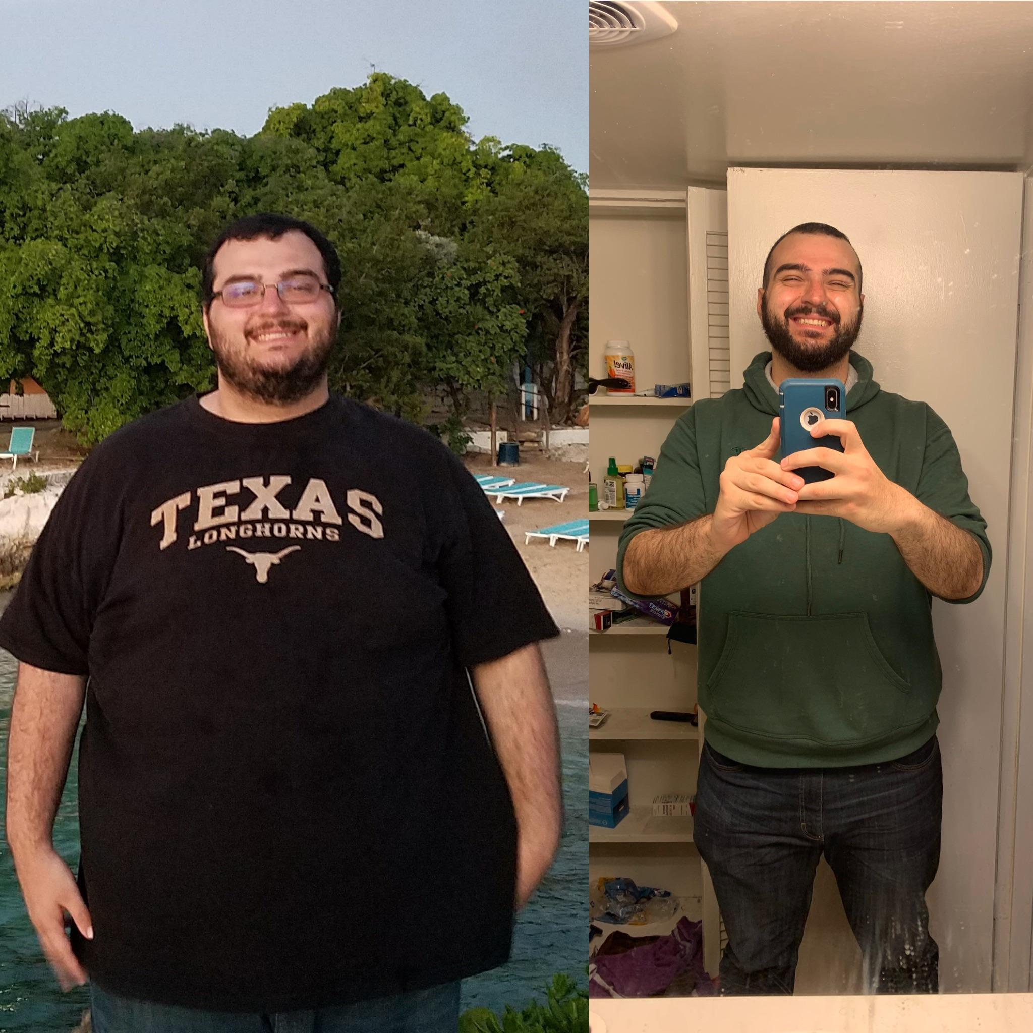6 foot 4 Male 200 lbs Fat Loss Before and After 470 lbs to 270 lbs