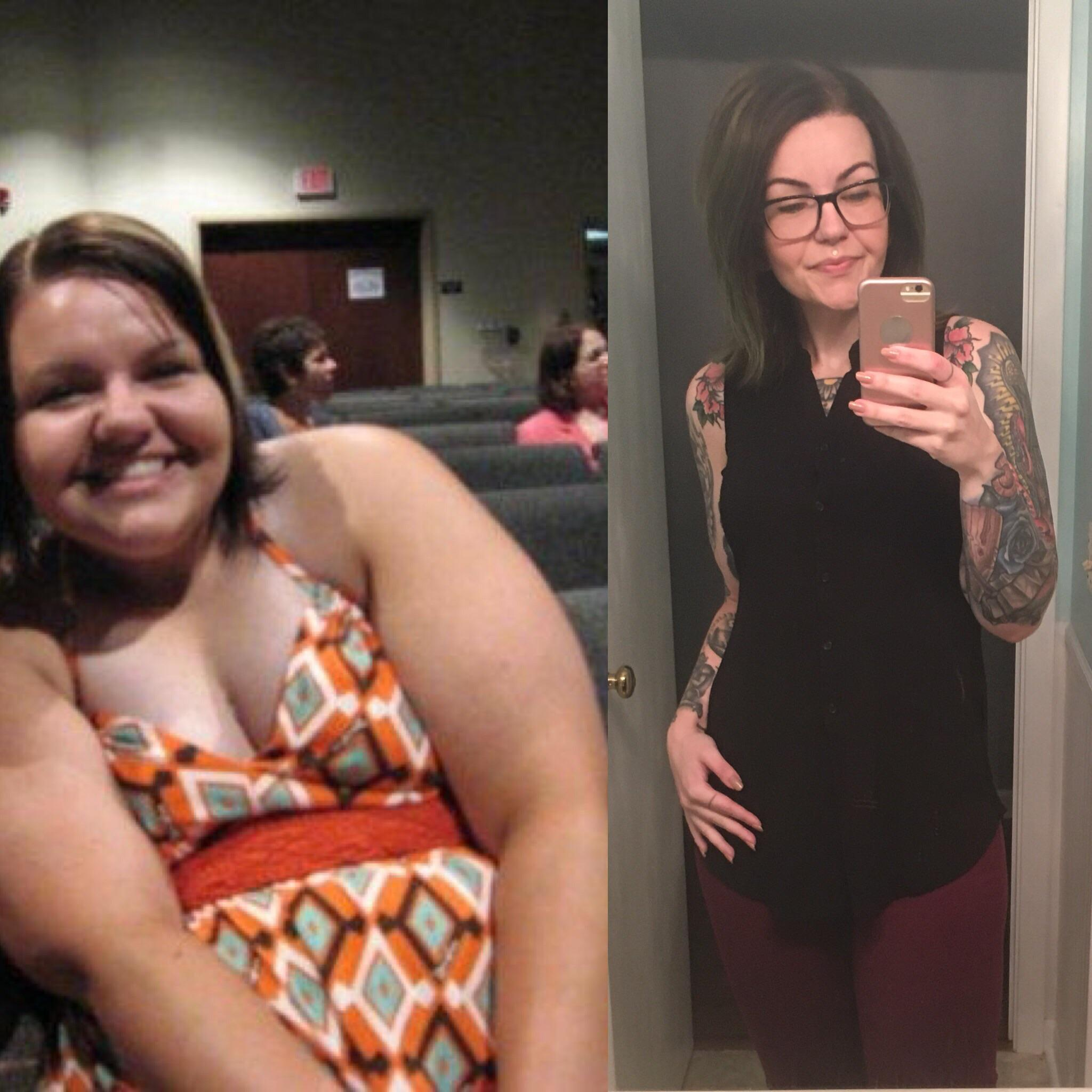 60 lbs Weight Loss Before and After 5'8 Female 216 lbs to 156 lbs
