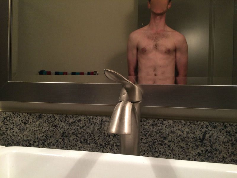 40 lbs Muscle Gain Before and After 6'1 Male 145 lbs to 185 lbs